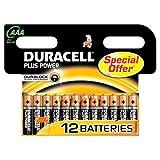 Duracell DUR018631 Plus Power AAA Batterien (12er Pack)