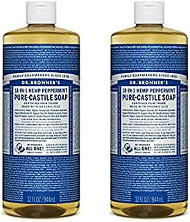 product image for Dr. Bronner's Dr. bronner's pure-castile liquid soap value pack - peppermint 32oz. (2 pack)