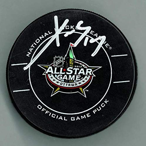 Signed Pavel Datsyuk Puck - 2012 All Star - Autographed NHL Pucks
