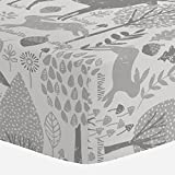 Best Crib Sheet For Woodlands - Carousel Designs Gray Woodland Animals Crib Sheet Review