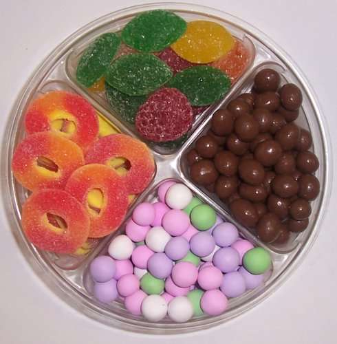 Scott's Cakes 4-Pack Chocolate Peanuts, Chocolate Dutch Mints, Peach Rings, & Pectin Fruit Gels by Scott's Cakes