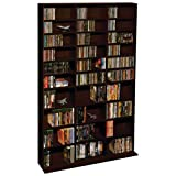 Atlantic 38435714 Oskar CD Cabinet Espresso