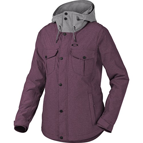 Oakley Women's Charlie BZI Jacket, X-Large, Deep Plum