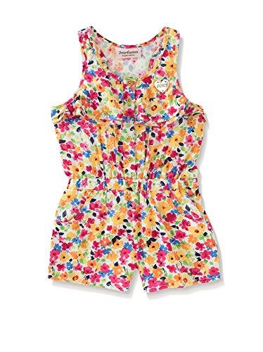 Juicy Couture Little Girls Multi Color Floral Print Romper (5) -