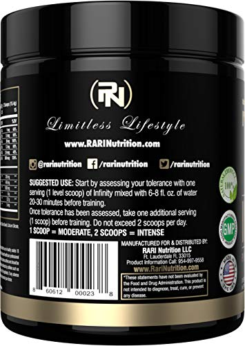 RARI Nutrition - Infinity - 100% Natural Pre Workout Powder for Energy, Focus, and Performance - Vegan and Keto Friendly - No Creatine - No Artificial Ingredients - 30 Servings (Sour Gummy Worm) by RARI Nutrition (Image #2)