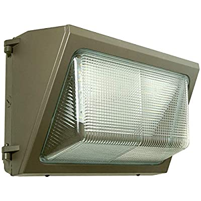 LED Wall-Pack - 120W 5000K Commercial Outdoor Light Fixture (Out-Door Security Porch Lighting for Industrial Out-Side)