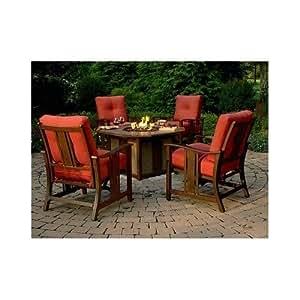 rattan patio outdoor furniture set w propane. Black Bedroom Furniture Sets. Home Design Ideas