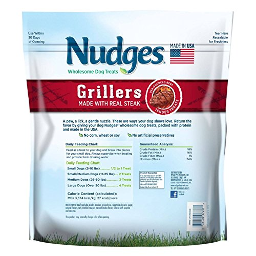 Picture of Nudges Wholesome Dog Treats, Steak Grillers (48 oz.) BIG BAG