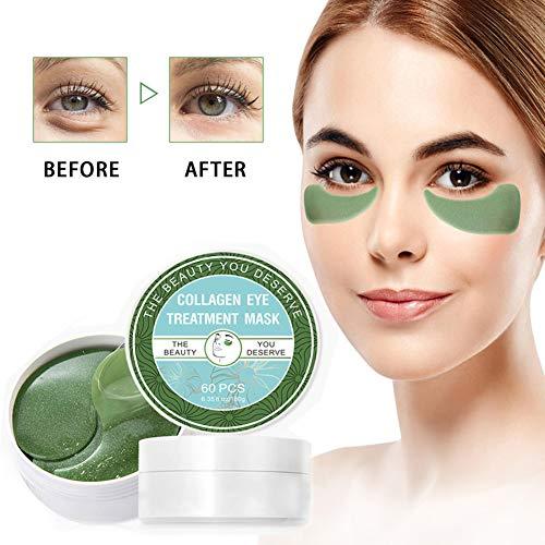 51b%2BkbM73EL - Chlorella Anti-Aging Collagen Eye Treatment Mask Eye Pads,Effectively Remove Fine Lines Eliminate Edema Eye Bag Reduce Dark Circles,Deeply Hydrating Eye Skin(30 Pairs/60 Pcs)