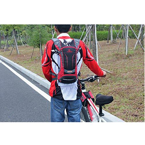 annoda Herren Frauen Outdoor Ausreit Wandern Tragbare Sport Gym Wasser Tasche Rucksack aus Nylon, 1Stück rot