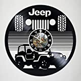 Jeep Automobile - vinyl wall clock - handmade artwork home bedroom living kids room nursery wall decor great gifts idea for birthday, wedding, anniversary