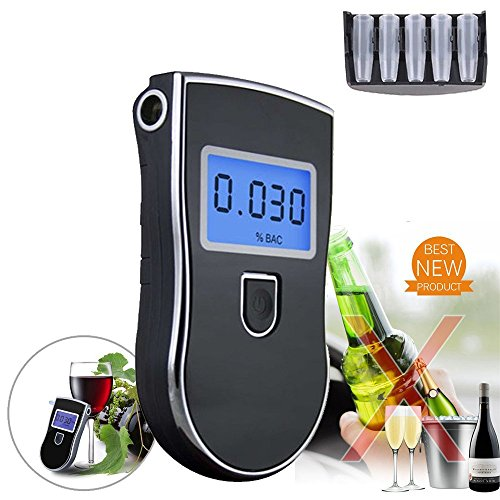 Alcohol Tester Breathalyzer, Digital Breath Blood Alcohol Tester Proof Portable Police Digital Breath High-Precision Alcohol Tester for Home Brew
