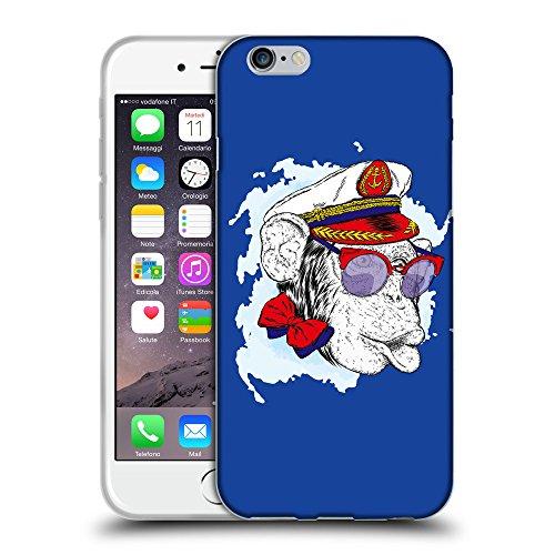 "GoGoMobile Coque de Protection TPU Silicone Case pour // Q05000613 Capitaine singe Bleu // Apple iPhone 6 PLUS 5.5"""