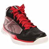 Reebok Sublite Pro Rise Basketball Shoe (Little Kid/Big Kid),Black/Rbk Red/White,6.5 M US Big Kid