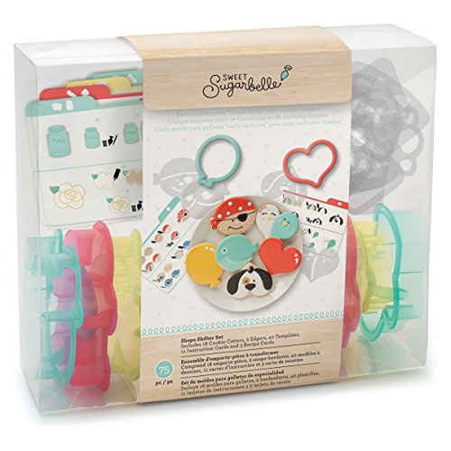 Sweet Sugarbelle Cookie Cutter Shape Shifter Set by American Crafts | Set includes 18 cookie cutters, 2 edgers, 40 templates, 11 instruction cards, and 3 recipe cards]()