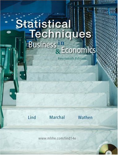 Statistical Techniques in Business & Economics (14th Ed. - UMUC Edition) (UMUC Custom Edition w/CD-ROM)