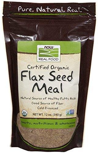 Seed Foods Flax Organic (NOW Foods Organic Flax Seed Meal, 12 oz)