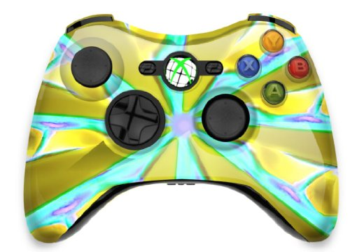 - Yellow and Turquoise Starburst Flames Xbox Cover