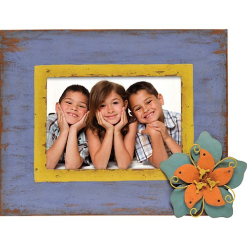 Caffco International Metal Picture Frame with Layered Flo...