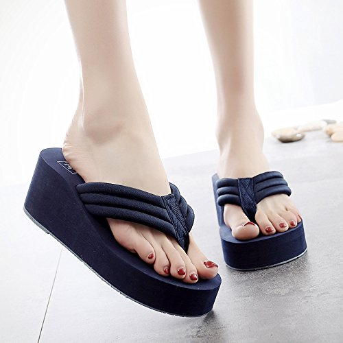 Verano antideslizante dama clip ocio playa flip flops high white moda FLYRCX simple heel zapatillas qXxd0X4w