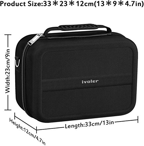 Carrying Storage Case for Nintendo Switch, iVoler PortableTravel All Protective Hard Messenger Bag Soft Lining 18 Games for Switch Console Pro Controller & Accessories Black by ivoler (Image #4)