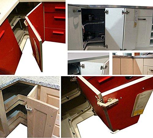AUTOUTLET 20PCS Soft Close Kitchen Cabinet Door Hinges Hydraulic Slow Shut Clip-On Plate 35mm for B&Q, Ikea, Mfi, Wickes by AUTOUTLET (Image #3)