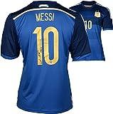 Lionel Messi Argentina Autographed Blue Jersey - Fanatics Authentic Certified - Autographed Soccer Jerseys