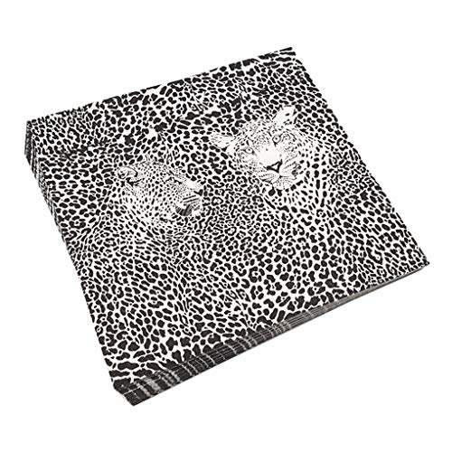 RXIN Animal Leopard Pattern Printed Paper Napkins Disposable Napkin Portable Must Needde Wedding Party Table Decoration by RXIN (Image #1)