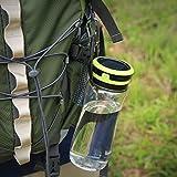 Aglaia LED farol de camping, USB y Batería Solar al aire libre luz con y 3niveles de brillo, 600ml IPX6resistente al agua botella para beber, almacenamiento, senderismo