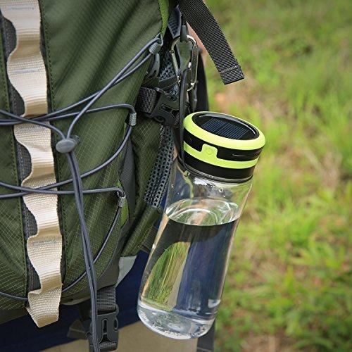 Aglaia LED lanterna da campeggio, USB e solare ricaricabile