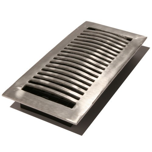 Decor Grates LA210-NKL 2-Inch by 10-Inch Aluminum Floor Register, Nickel by Decor Grates