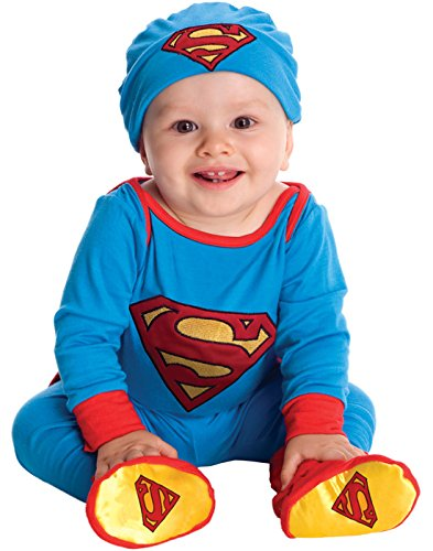 Raven Dc Costume - DC Comics Superman Onesie And Headpiece, Blue, 6-12 Months Costume