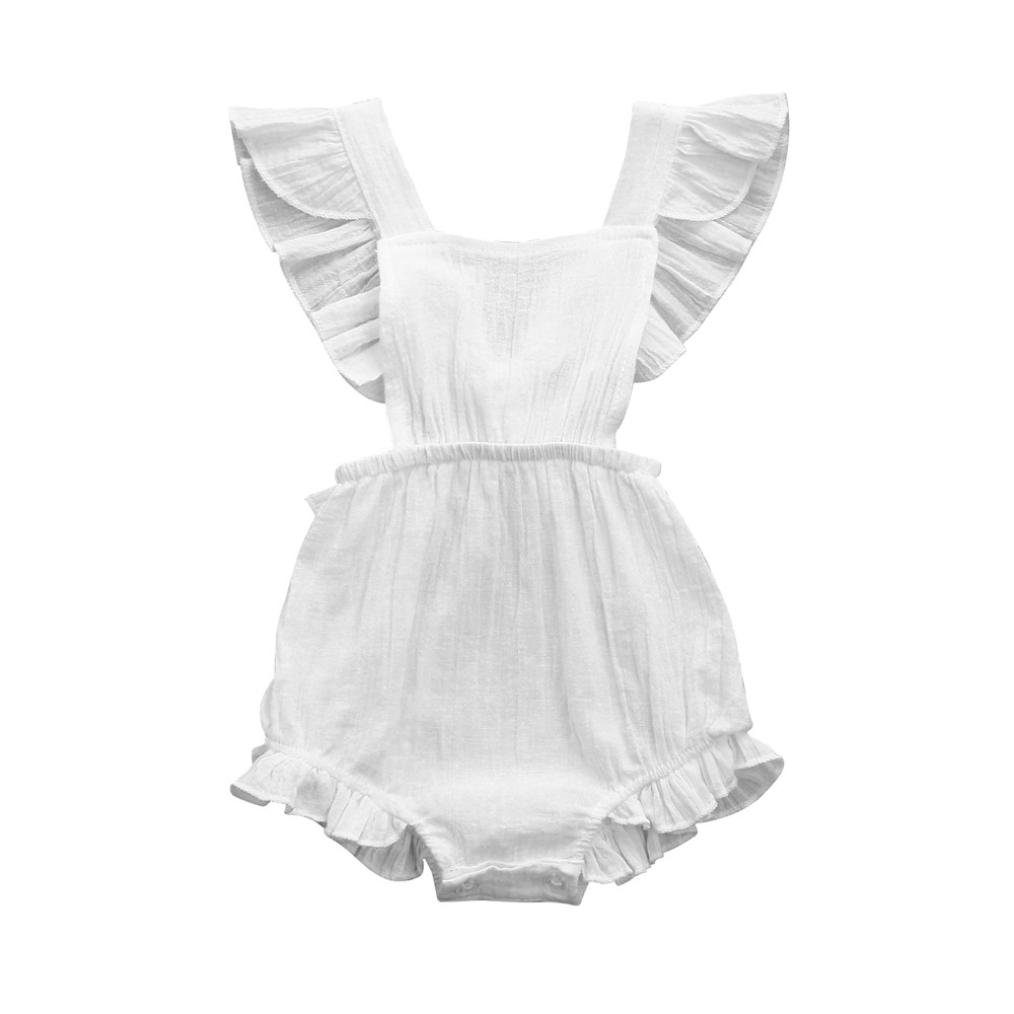 Backless Jumpsuit Outfits Clothes Fartido Baby Girls Ruffles Romper
