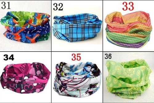 6 Pcs Cheap and Good Quality Headscarves, High Elastic Magic Headband with Uv Resistance, 18.8*9.4 Inch by Beauty World