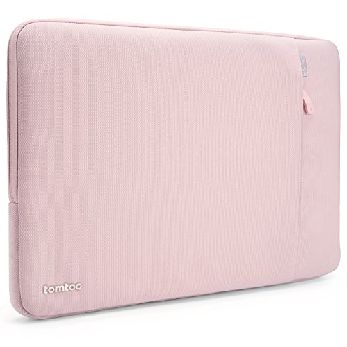 Tomtoc 360° Protective Sleeve for 15 Inch New MacBook Pro Retina with Touch Bar 2017 & 2016, Shockproof, Spill-Resistant 15 Inch Laptop Case Tablet Bag, Baby Pink