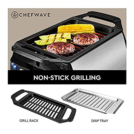 Amazon.com: ChefWave Smokeless Indoor Electric Grill ...