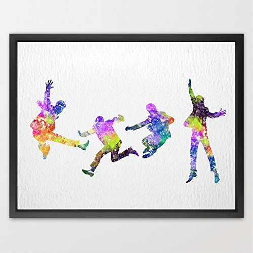 Beatles Color - Dignovel Studios 8X10 Beatles Inspired Watercolor illustration Art Print Nursery decor watercolor Print Home decor N200
