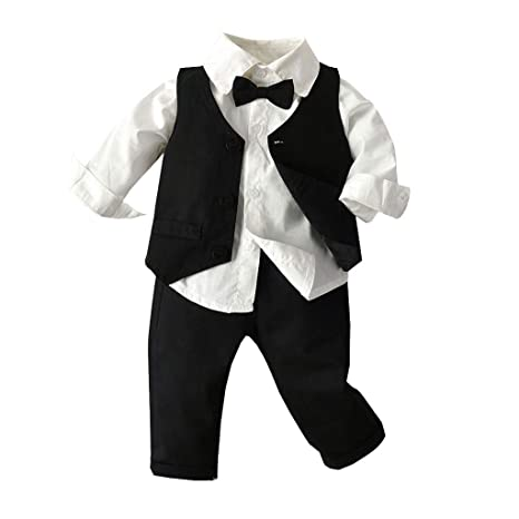 Dasongff - Conjunto de ropa para bebé de 3 piezas, camisa + ...