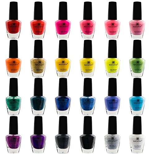 SHANY Cosmetics The Cosmopolitan Nail Polish Set (24 Colors Premium Quality and Quick Dry),  0.5 fl ounce each (Best Professional Nail Polish Brands)