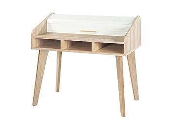 Simmob bureau dos d ne vintage rideau blanc nombre de tiroirs