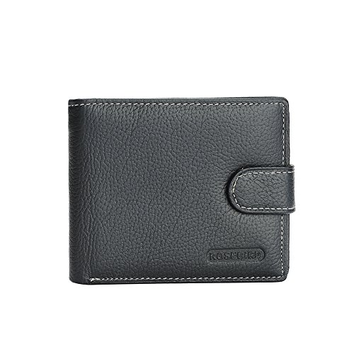 RFID Blocking Bifold Snap Closure Wallet With Coin Zipper Pocket For Men from SHOE GONE