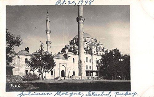 Istanbul Turkey Soliman Mosque Suleymaniye Real Photo Antique Postcard J25296