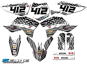 2002-2008 SX 50 Apache Grey CUSTOM Complete Senge Graphics Kit Compatible with KTM