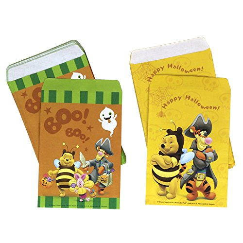 PMG Halloween Disney Paper Favor & Treat Bags, Winnie The Pooh and Tigger 120-Count -