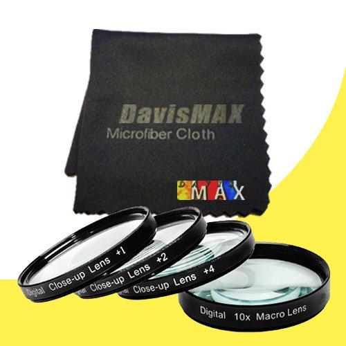 49mm Macro Close Up Kit for Sony Alpha NEX-3N with Sony 18-55mm f/3.5-5.8 SEL Zoom Lens + DavisMAX Fibercloth Macro Bundle