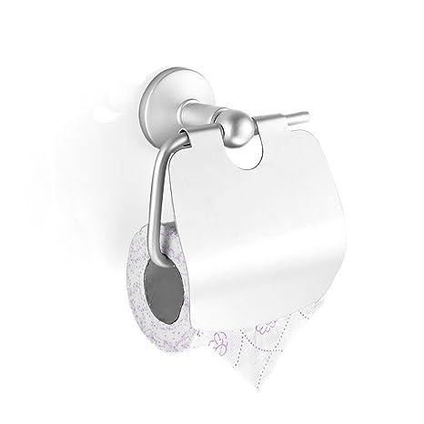 Rabbitgoo Portarrollo Paper higienico Porta Rollo para Cocina Cuarto de baño WC Mueble de Pared Aluminio