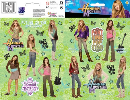 Hannah Montana Sticker Large Two-Sheet Pack 1 (Hannah Montana Favors Party Stickers)