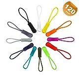#7: EuTengHao 120 Pcs Zipper Pulls Zipper Extension Pulls Nylon Cord Zipper Tag Replacement for Clothes, Backpacks, Traveling Case, Handbag, Purse Zipper Replacement Tag Tents (12 Colors)