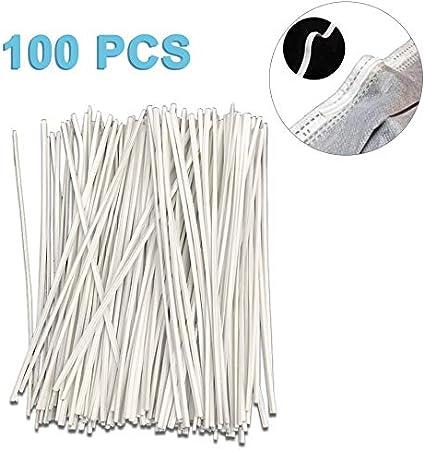 200 PCS for DIY Mask Handmade Crafting Making Nose Bridge Clip Nose Bridge Strip 10CM Length PE Wrapped Metal Strips Straps Nose Bridge Strip
