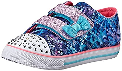 Skechers Toddler (1-4 Years) Twinkle Toes: Chit Chat-Prolifics Blue/Multi Light-Up